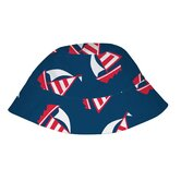 Navy Sailboat Bucket Sun Protection Hat