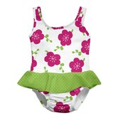 White Blossom Ultimate Swim Diaper Skirty Tanksuit
