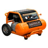 2 HP Side Stack 4 Gallon Portable Air Compressor with Roll Cage and Wheels