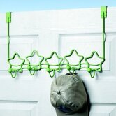 Green Stars Over-The-Door Hook Rack