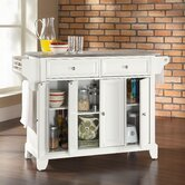DO NOT SET LIVE!Newport Kitchen Island with Stainless Steel Top in White