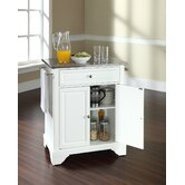 LaFayette Kitchen Island with Stainless Steel Top