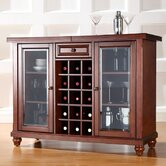 Cambridge Sliding Top Bar Cabinet in Vintage Mahogany