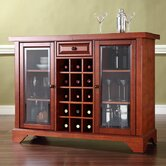 LaFayette Sliding Top Bar Cabinet in Classic Cherry
