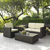 Palm Harbor 3 Piece Deep Seating Group with Cushions