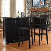 "Mobile Folding Bar in Black with 30"" School House Stool in Black"