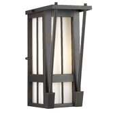 Banff Outdoor Wall Lantern in Bronze Patina