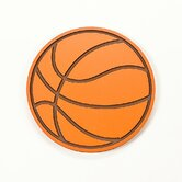 Large Basketball in Orange and Brown (No Glitter)