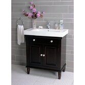 30&quot; Single Bathroom Vanity in Dark Brown