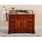 "48"" Single Bathroom Vanity in Burled Wood"