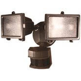 300 Watt Motion Activated Twin Security Light in Bronze Finish
