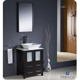 "Torino 24"" Modern Bathroom Vanity with Vessel Sink"