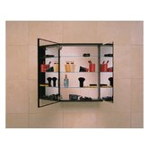 PL Series Flat Plain Mirrored Door Cabinet with Inside Tri-View