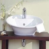 Crescendo Bathroom Vessel Sink in White