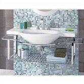 Riviera Bathroom Sink Wall-Mount Only with Integrated Towel Rack