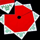 Holly Magic Tree Skirt in Red