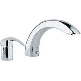 Eurosmart Single Handle Deck Mount Roman Tub Faucet Trim