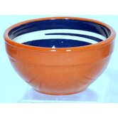 Terracotta Pudding Bowl in Blue / Cream (Set of 2)
