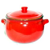 Terracotta Stew Pot in Red