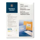 "Mailing Labels, Shipping, Laser, 2""x4"", 1000 per Pack, White"