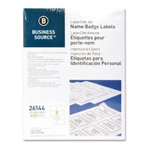 Name Badge, Laser, 2-1/3&quot;x3-3/8&quot;, 400 per Pack, White