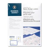 Name Badge, Laser, 2-1/3&quot;x3-3/8&quot;, 400 per Pack, White/Blue