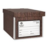 "Storage Boxes, Lift Off Lid, Ltr/Lgl, 10""x12""x15"", Woodgrain, 12-Pack"