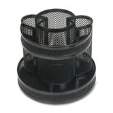 Rotary Organizer, Mesh, 6-5/8&quot;x6-5/8&quot;x6-5/8&quot;, Black