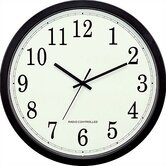 "14"" Classic Black Atomic Wall Clock"