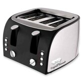 "4-Slice Toaster, 12-1/2""x11-1/2""x8-1/4"", Stainless Steel"