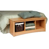 Sonoma Wood Storage Bedroom Bench