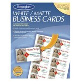Business Card, Inkjet Coated, Matte, White, 1000 Cards