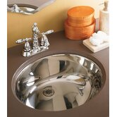 "Simply Stainless 6"" Undermount Sink with Overflow"