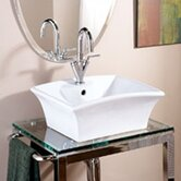 Classically Redefined 19.25&quot;x16&quot; Rectangular Ceramic Vessel Sink with Overflow