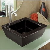 Classically Redefined 18&quot;x16&quot; Rectangular Ceramic Vessel Sink with Overflow