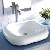 "Classically Redefined 21.5""x18.75"" Rectangular Ceramic Vessel Sink"