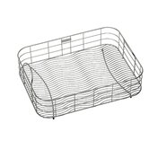 "Stainless Steel Rinsing Basket Fits 28"" x 16"" Bowl"