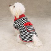 Reversible Houndstooth Dog Coat
