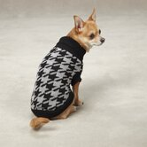 Uptown Houndstooth Dog Sweater in Black