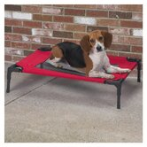 Large Pet Cot with Mesh Panel in Crimson