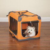 Small Pioneer Soft Dog Crate in Orange