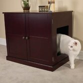 Cat Litter Box Cabinet in Mahogany