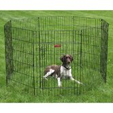 Everlasting Exercise Dog Pen with Door in Black