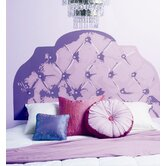 Purple Tufted Headboard Wall Sticker