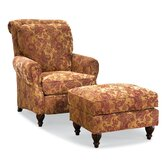 Ike High Back Chair and Ottoman