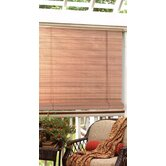 1/4&quot; Oval Vinyl PVC Roll-Up Blinds in Woodgrain