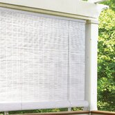 "1/4"" Oval Vinyl PVC Roll-Up Blinds in White"