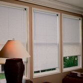"1"" Premium Room Darkening Mini Blinds in White"