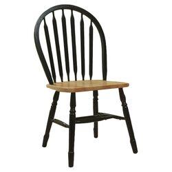 Ridgedale Side Chair in Black & Oak (Set of 2)