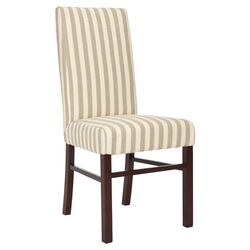 Classical Cotton Parsons Chair in Cream (Set of 2)
